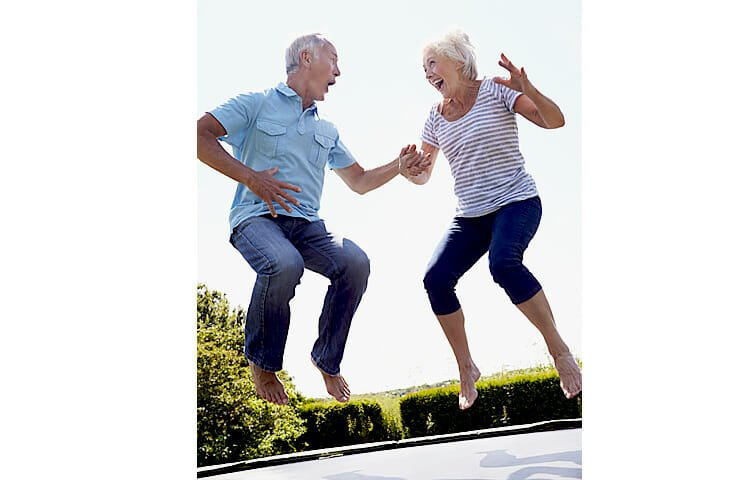 Rebounding on Small Trampoline for Better Health