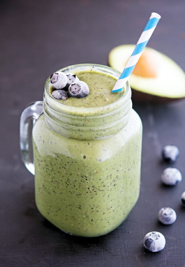 The Iron You - Blueberry Avocado and Spinach Power Smoothie Snacks on the go