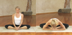 butterfly yin yoga pose