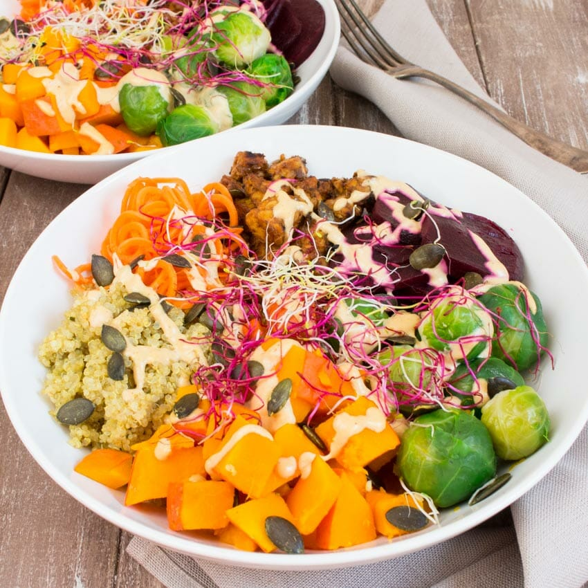 Fall Buddha Bowl with Quinoa by Vegan Heaven
